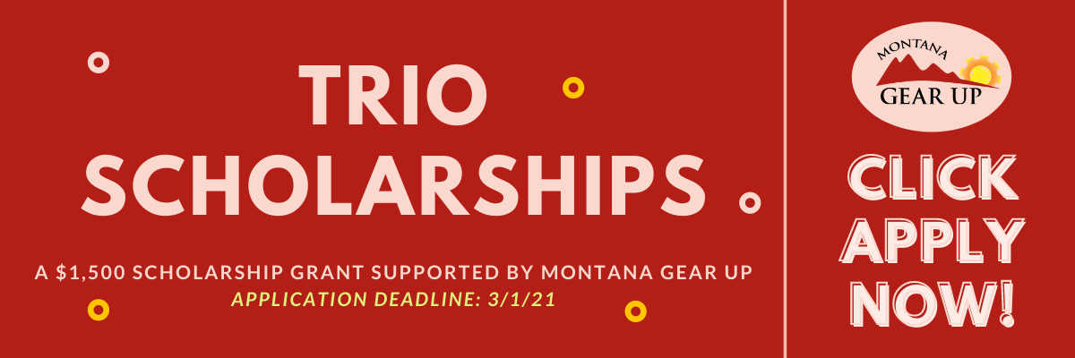 $1,500 scholarships for TRIO enrolled students.