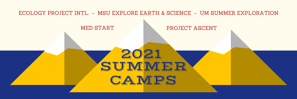 2021 GEAR UP sponsored summer camps